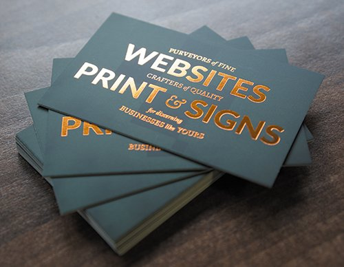 Nettl of glos chelt on twitter you cant beat a copper foil want your business cards to stand out from the crowd have a look at our business cards styles prices on our website httpow4mpp30gckdq print reheart Images
