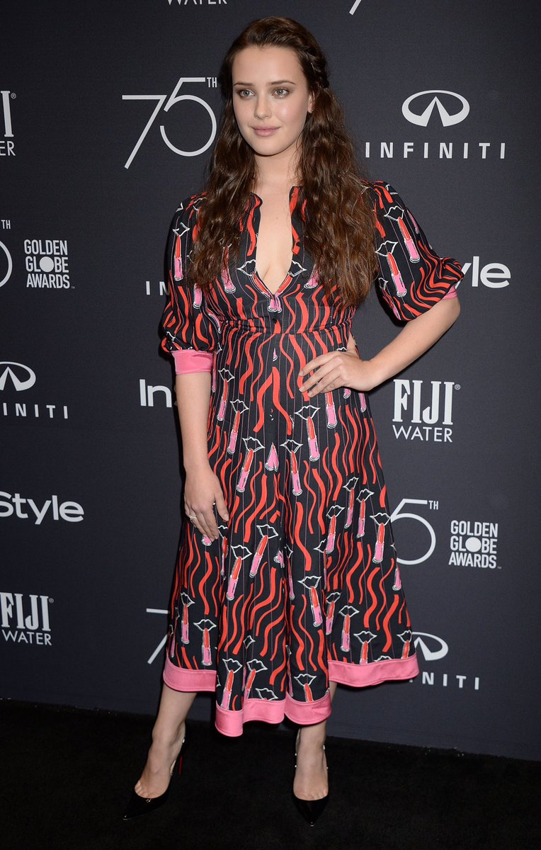"""Katherine Langford Updates on Twitter: """"Katherine attending the HFPA and  InStyle Golden Globe Season celebration in Los Angeles.… """""""