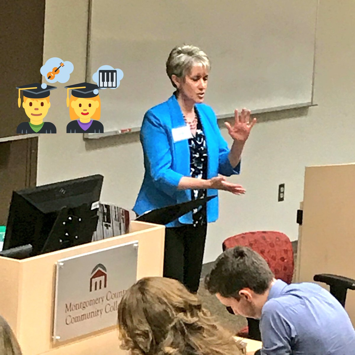 """#tbt to Sharon Saul of @Methacton SD telling music educators how to use the """"H.O.T.S.S.E.A.T."""" aka Higher Order Thinking Skills: Students Engaged in Advanced Thinking at @PMEAD11 / @PMEAstate D11 inservice #musiced <br>http://pic.twitter.com/GRnh40GDkv &ndash; à Montgomery County Community College"""