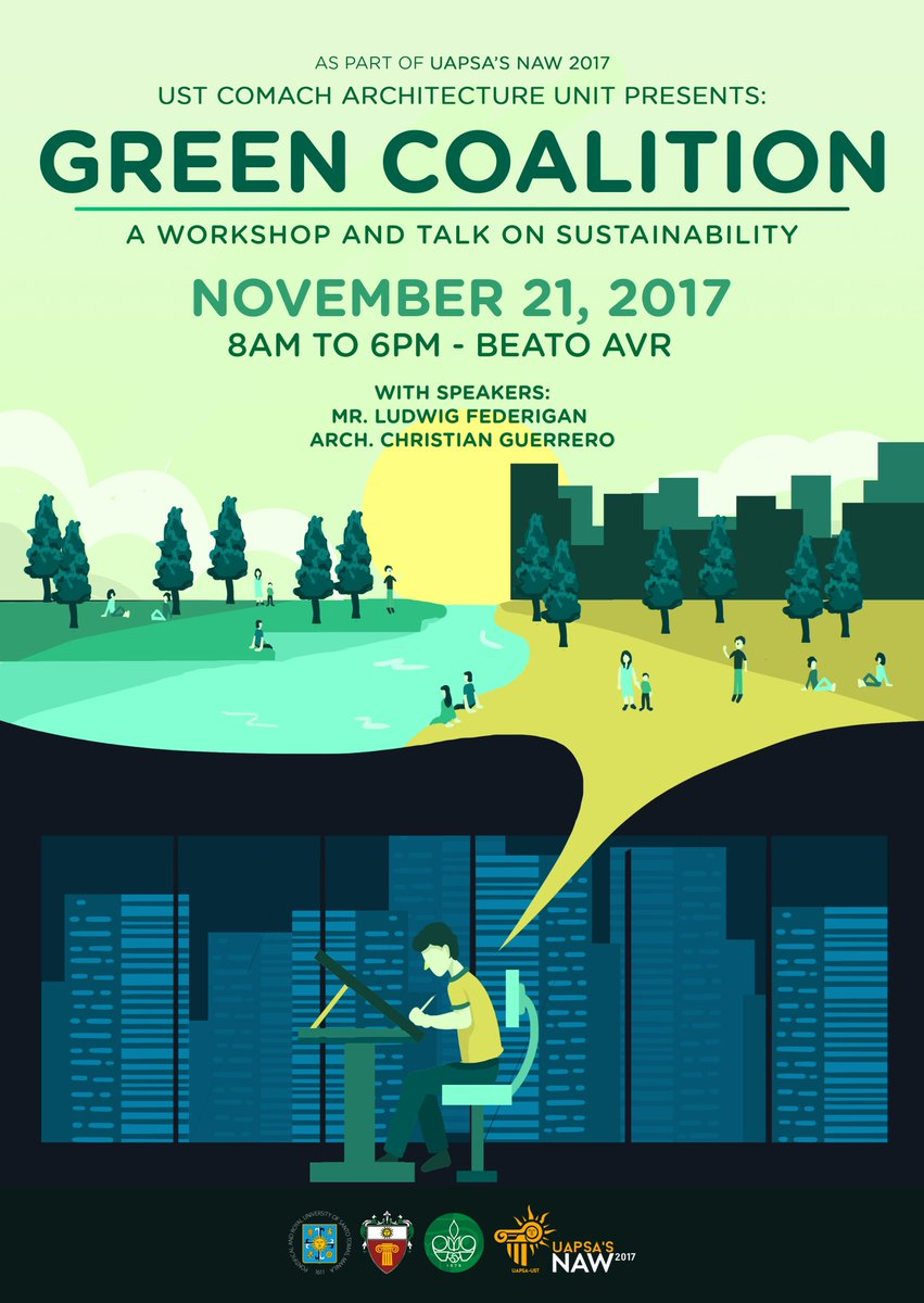 Achievers! Are you ready for our first event this year? We present the GREEN COALITION; A talk about sustainability which will be followed by a workshop happening this 21st of November, at the Beato AVR from 8 AM to 6 PM.  #GreenCoaLITion #ThinkGreen #RedefiningSustainability<br>http://pic.twitter.com/f477OUO3Va