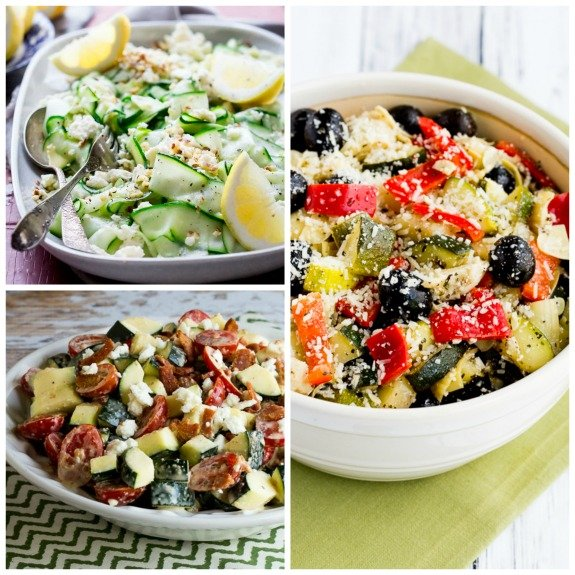 20 Amazing #LowCarb Salads with #Zucchini   -  Recipe:  https:// kalynskitchen.com/20-amazing-low -carb-salads-with-zucchini/ &nbsp; …   via @kalynskitchen<br>http://pic.twitter.com/smlNE4yClw