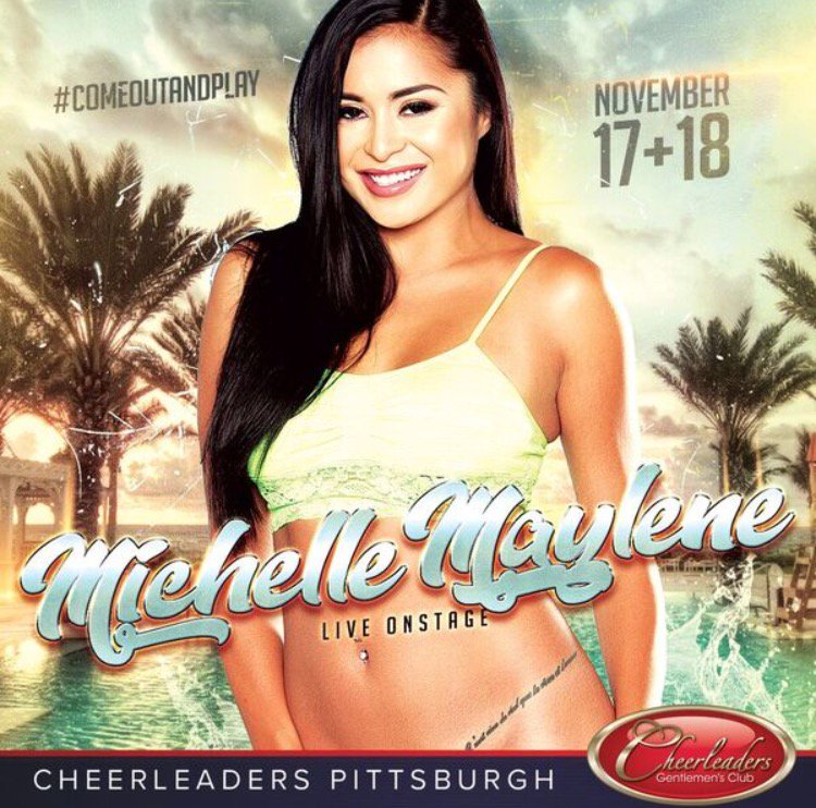 test Twitter Media - RT @michellemaylene: Almost time!!! Yay!!! Come meet me at Pittsburgh cheerleaders this Friday and Saturday https://t.co/p36cBFceg0