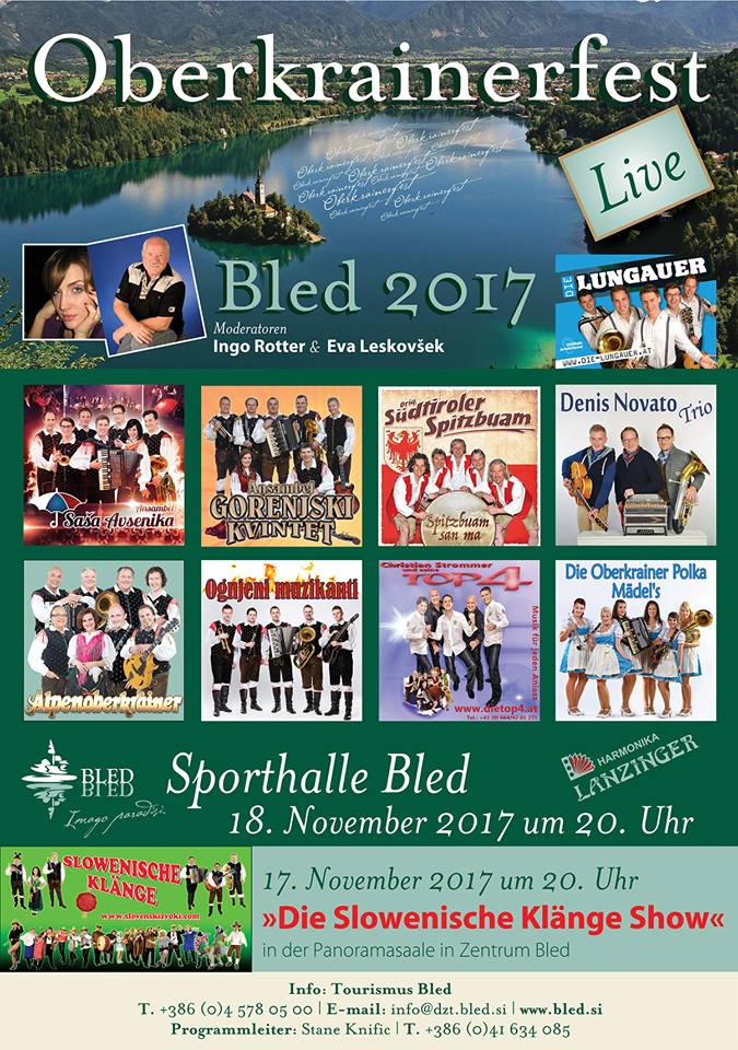 Folk Music Hit Parade 2017 this weekend! Can&#39;t wait!  http:// bit.ly/2AMy0a6  &nbsp;    #lakebled #ifeelsLOVEnia #oberkrainerfest<br>http://pic.twitter.com/Wk8MhwzkSF