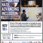 A forum regarding how to combat hate in Canada is taking place on November 18th at the Allsaints Event Space from 9am-5pm. Youth are encouraged to attend!