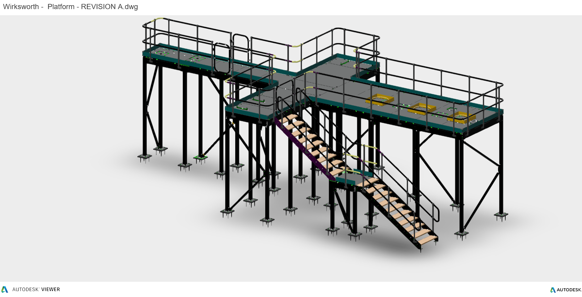 Final design submission Just awaiting client approval prior to production for December Delivery.   For further informationmail kim@gwhfabs.co.uk   #GMS #PLATFORM #CE #FABRICATION #STEEL #METALWORK<br>http://pic.twitter.com/GqFcMiiKZO