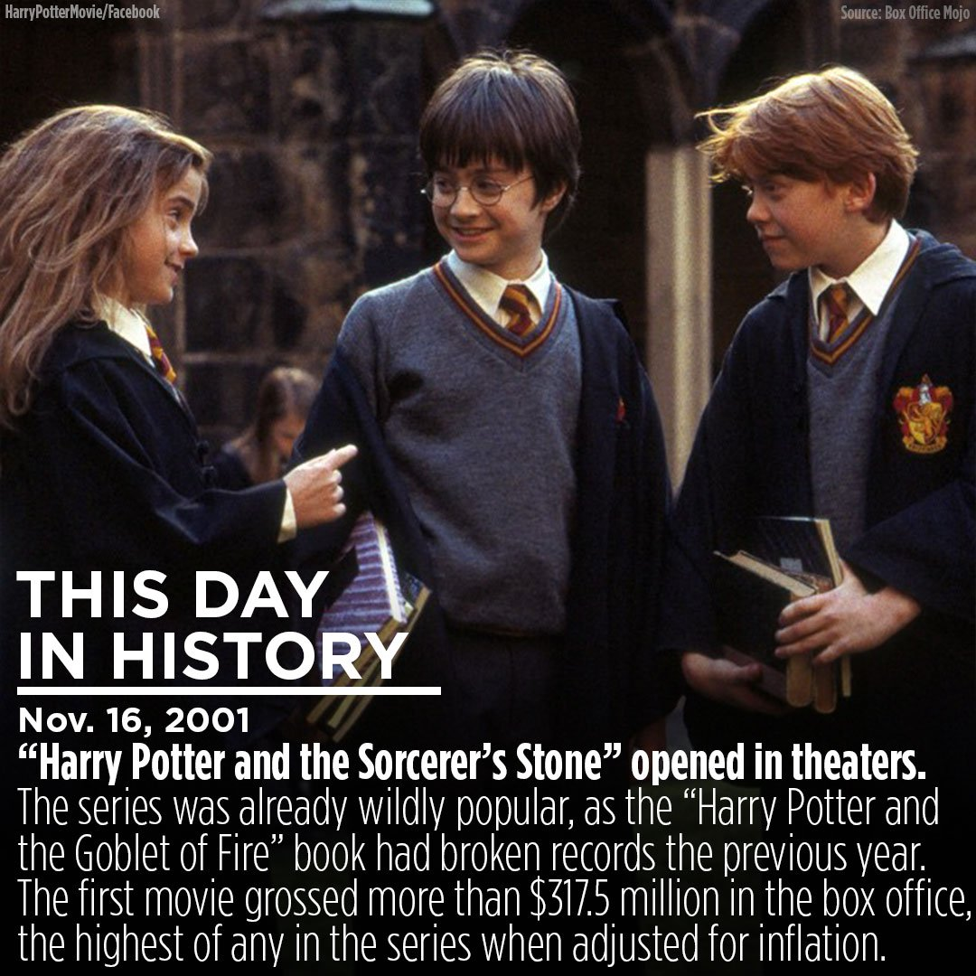 RT @ABC7: 'You're a wizard, Harry.' The first #HarryPotter movie hit theaters on this day 16 years ago https://t.co/DvSIfycfDJ