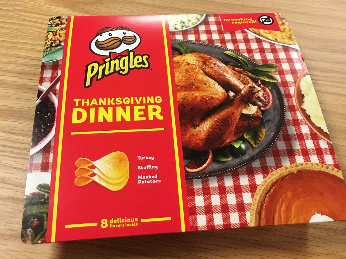 We tasted Pringles' limited-edition Thanksgiving dinner, the entire holiday meal in chip form. Here's how that went: https://t.co/GxgsCxycEt