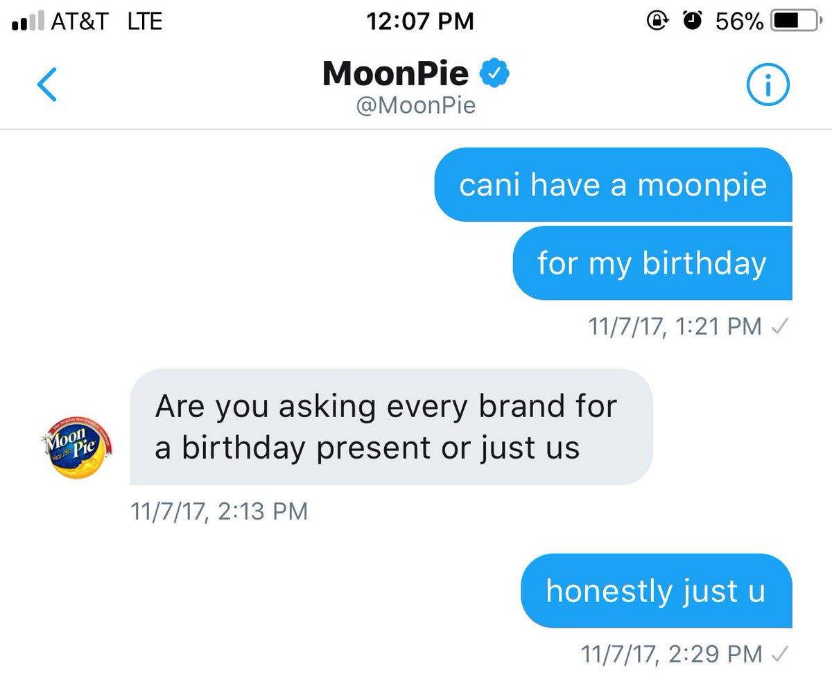 my wildest dreams came true. thank u @MoonPie the best bday gift ever