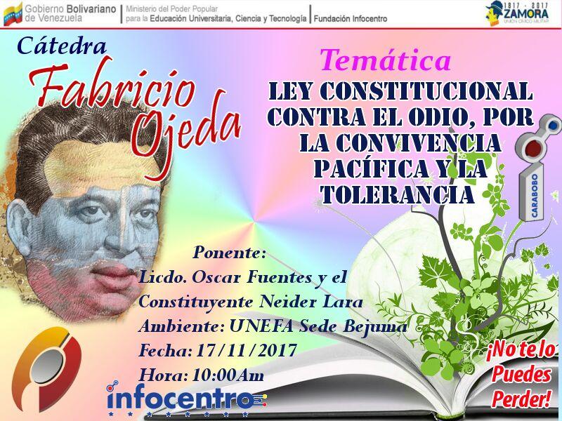 Mañana cátedra Fabricio Ojeda en la @une...