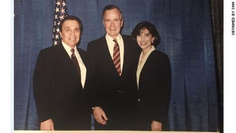 Former President George H.W. Bush is facing new allegations from a Michigan woman; Says President grabbed her rear end during photo-op at fundraiser for Bush's re-election campaign in Dearborn, Michigan. Photo via CNN