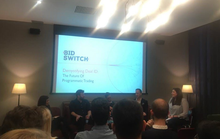 Good discussion and plenty of learning at this @exchangewire @BidSwitch panel on the future of programmatic trading! https://t.co/58rCtXNH2e