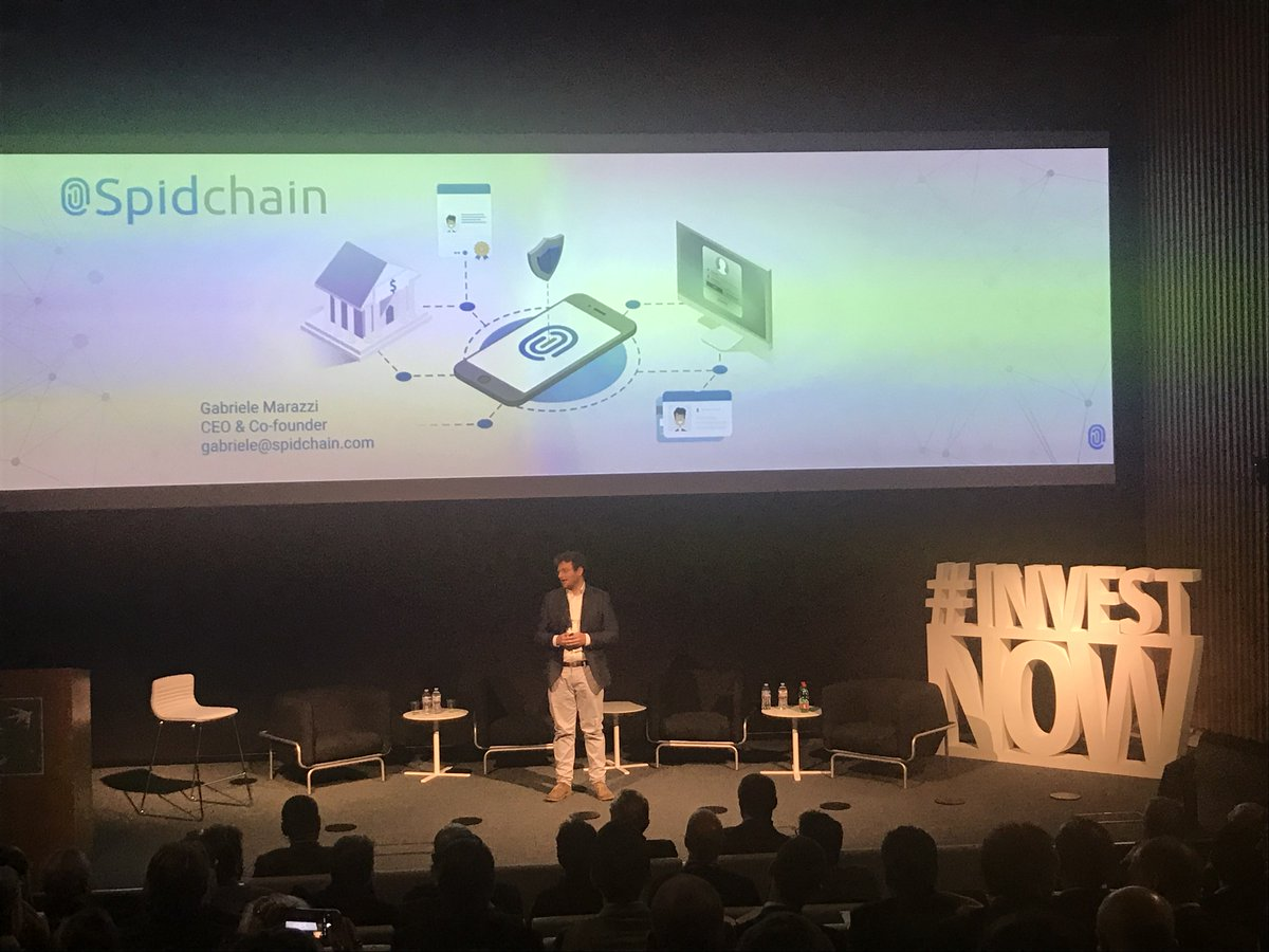 The pitch session starts with @gabrielem CEO of @SpidChain, the #startup that uses the #blockchain technology to manage the digital identity, providing safety levels compatible with OASIS LoA4 #investnow <br>http://pic.twitter.com/eauIVSpcO3