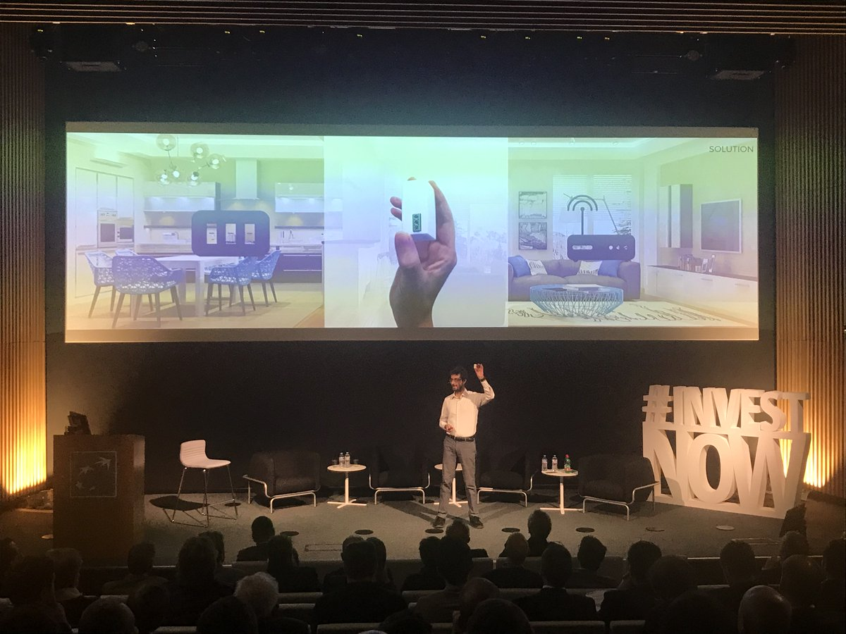 Now on stage: @Powahome the simple smarthome system that can be installed in a few hours without intervention on the existing house wiring. It's time to control your house via smartphone!   #investnow <br>http://pic.twitter.com/idSWYju4Ko