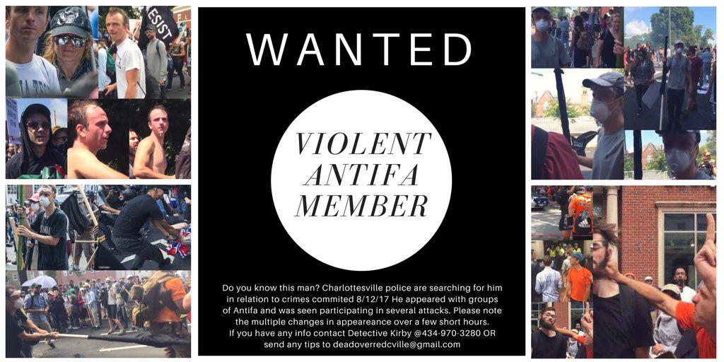 RETWEET ***EXTREMELY IMPORTANT***  change the narrative.    #UniteTheRight #Antifa #wanted #defendcville #violent #yesyoureacommie #Charlottesville  @lacymacauley @DrWesBellamy @MikeSigner @occdissent @DLamontJenkins @DrewWilderNBC12 @HenryGraff @JacksonJLanderspic.twitter.com/wjmVslqAsF