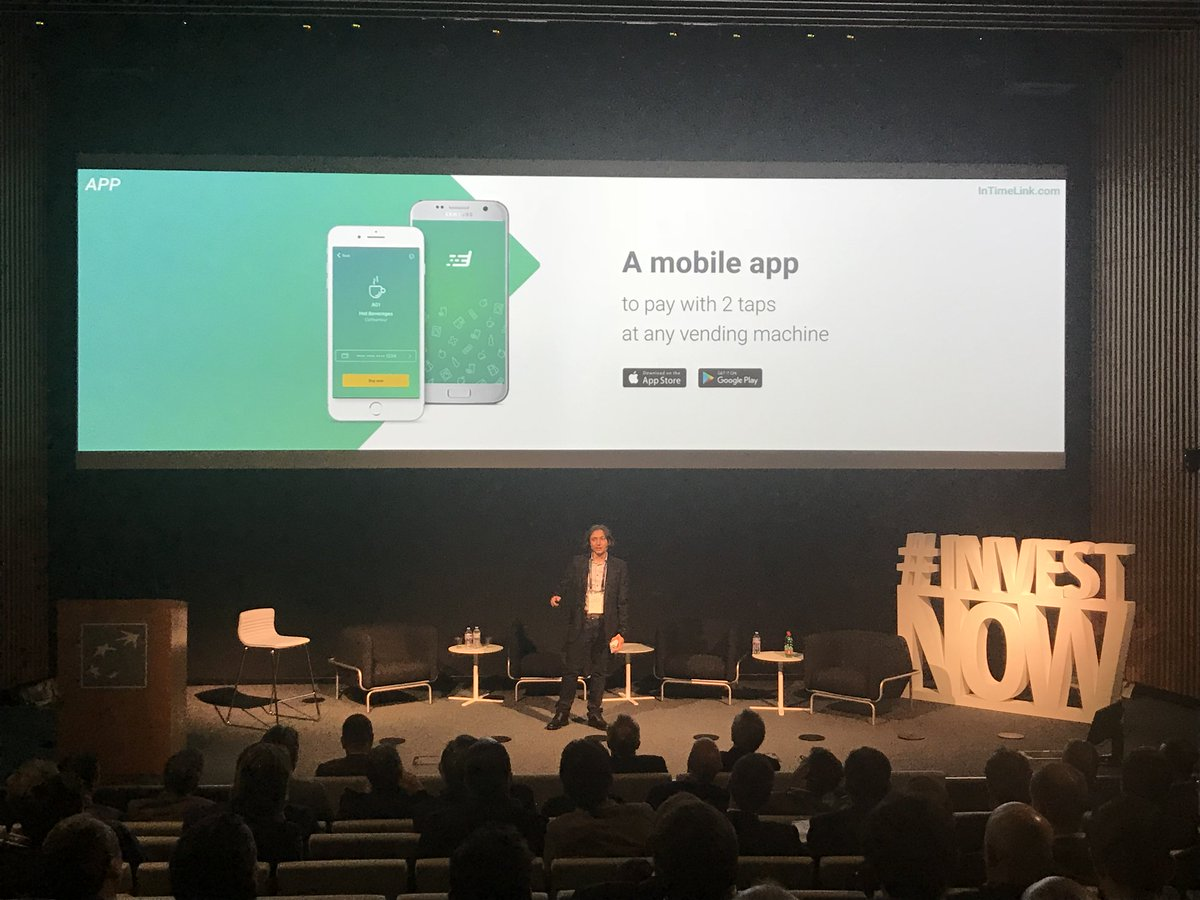 The pitch session ends with Alfredo Di Maria @Admdebian, CEO of @InTimeLink, the direct link between #vending operators and their customers. Ready for the all-inclusive solution for mobile payments and telemetry?  #investnow <br>http://pic.twitter.com/gC3qJfSgiP
