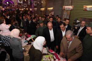 #Aleppo today,after years of living under terrorism the City is alive again,A Festival of 80 pavilions and more than 150 participants opened at the Market,showing traditional products,clothing,Food,Sweets,perfumes and Silverware.#Syria.<br>http://pic.twitter.com/4o53DlFJeV