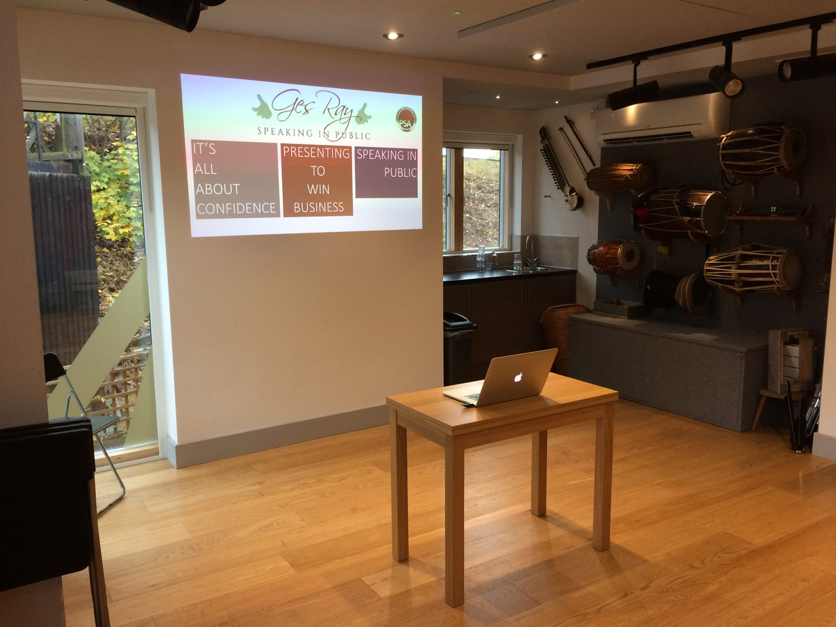 Exquisite performance space at @Tara_Arts Tara Theatre, Earlsfield this morning ready for a @BRANDUIN_UK #publicspeaking #speaking workshop...<br>http://pic.twitter.com/lgH4E01DO9