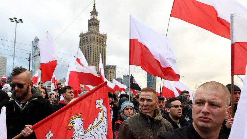 «Néo-nazis» à la Marche de l'indépendance en #Pologne