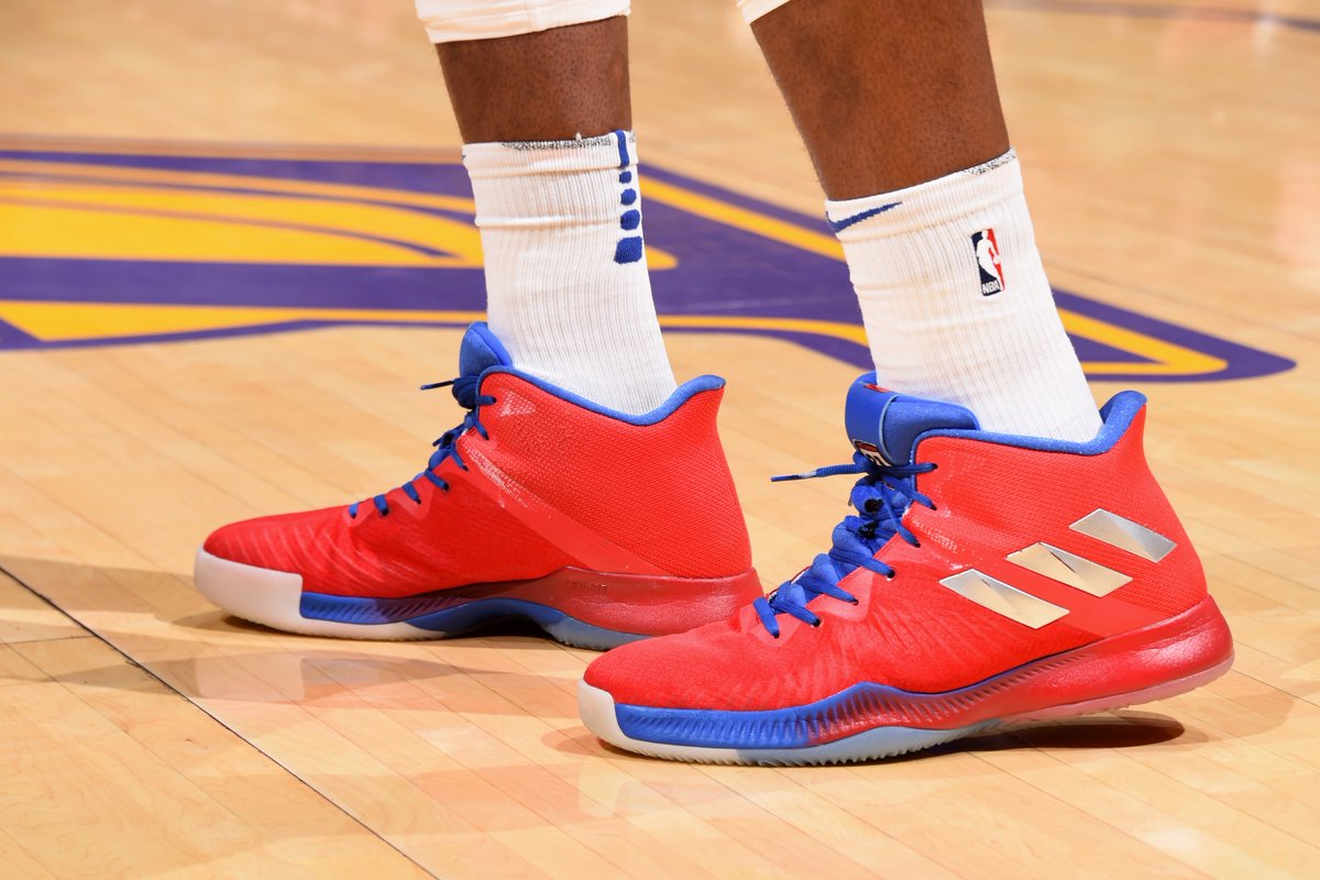 4c5efc5f471f joel embiid s monster performance last night came in the adidas mad bounce  check out what