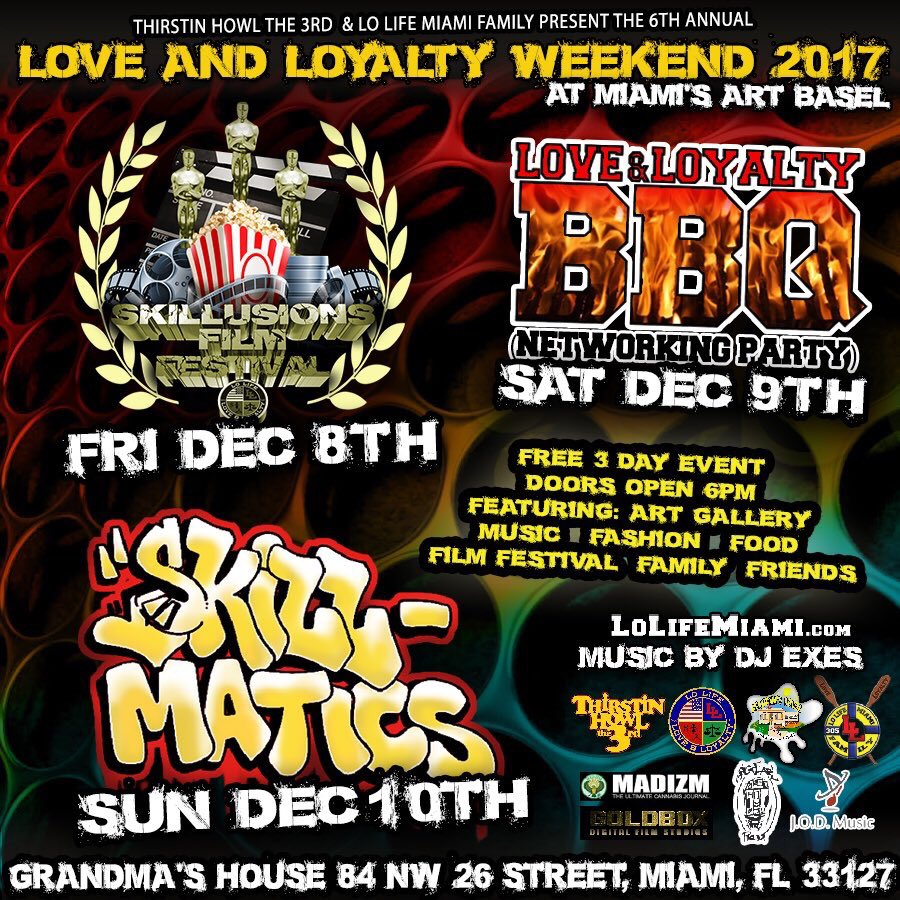 #loveandloyaltyweekend #miami #artbasel dec 8-10 by @ThirstinHowl3rd @Bigearlpromo hosted by @HakimGreen  the countdown begins!<br>http://pic.twitter.com/DPuqK7rXCr