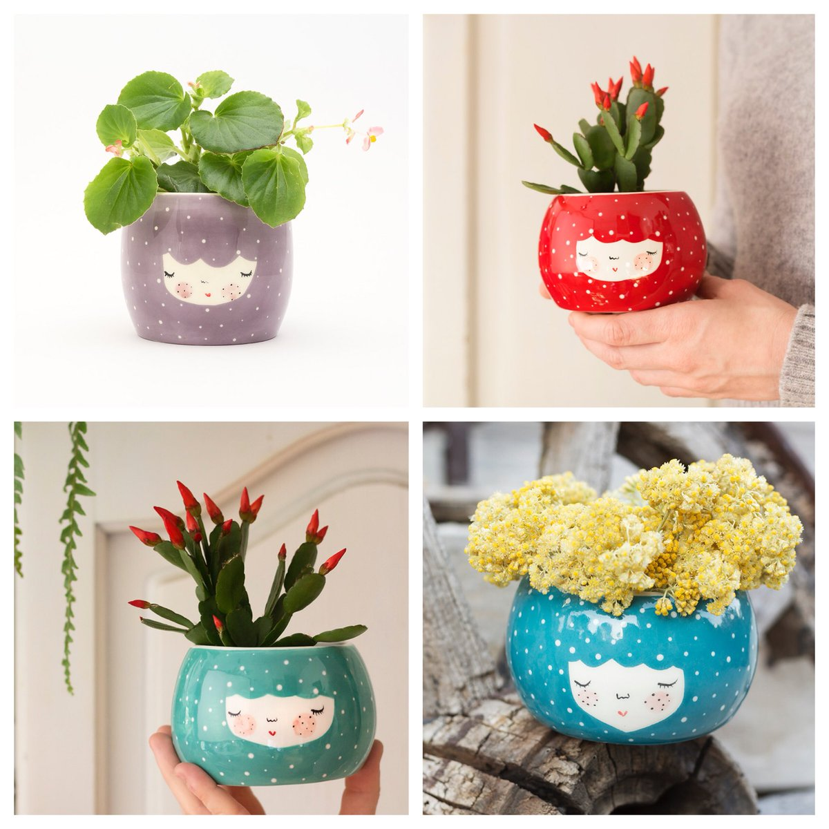NEW! Charming #ceramic character #planters. Good luck picking a favourite! #handmade #heartmade<br>http://pic.twitter.com/Z4R8tNkvHH
