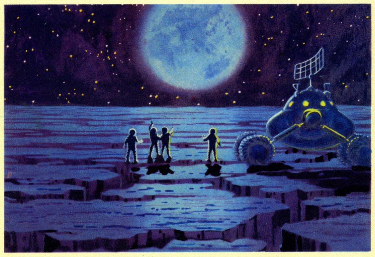 Lunokhod-2 on the Moon 1975 Sokolov Vintage Space Postcard A