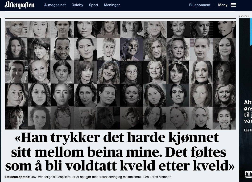 487 skadespelare i norge talar ut om trakasserier