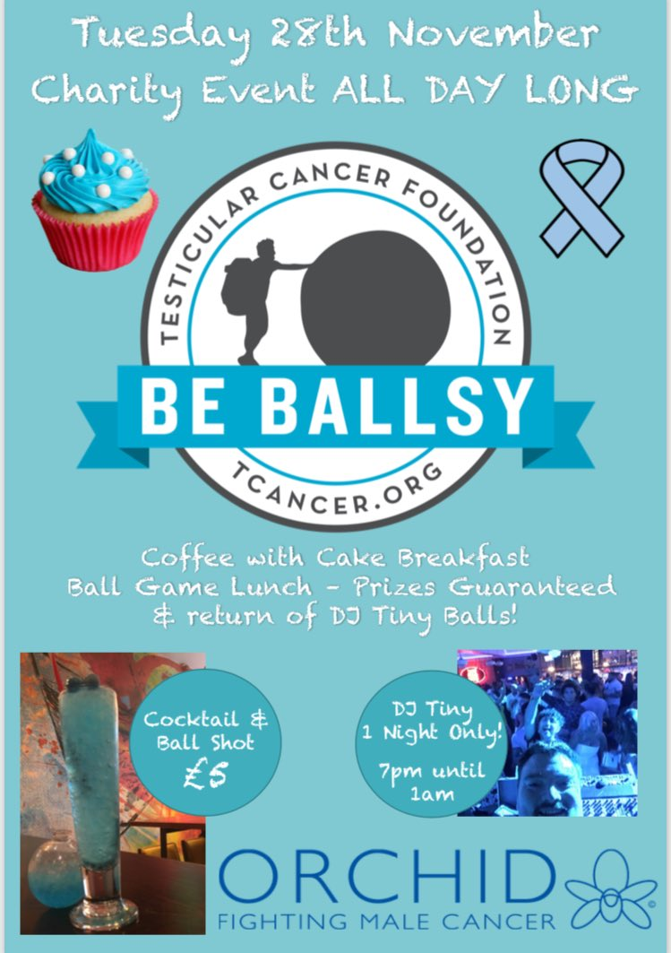 Amazing all day event on Tuesday 28th November. Pay week funday anyone? #cakes #coffee #cancerawareness #orchid #yates<br>http://pic.twitter.com/xSQLZGaVit