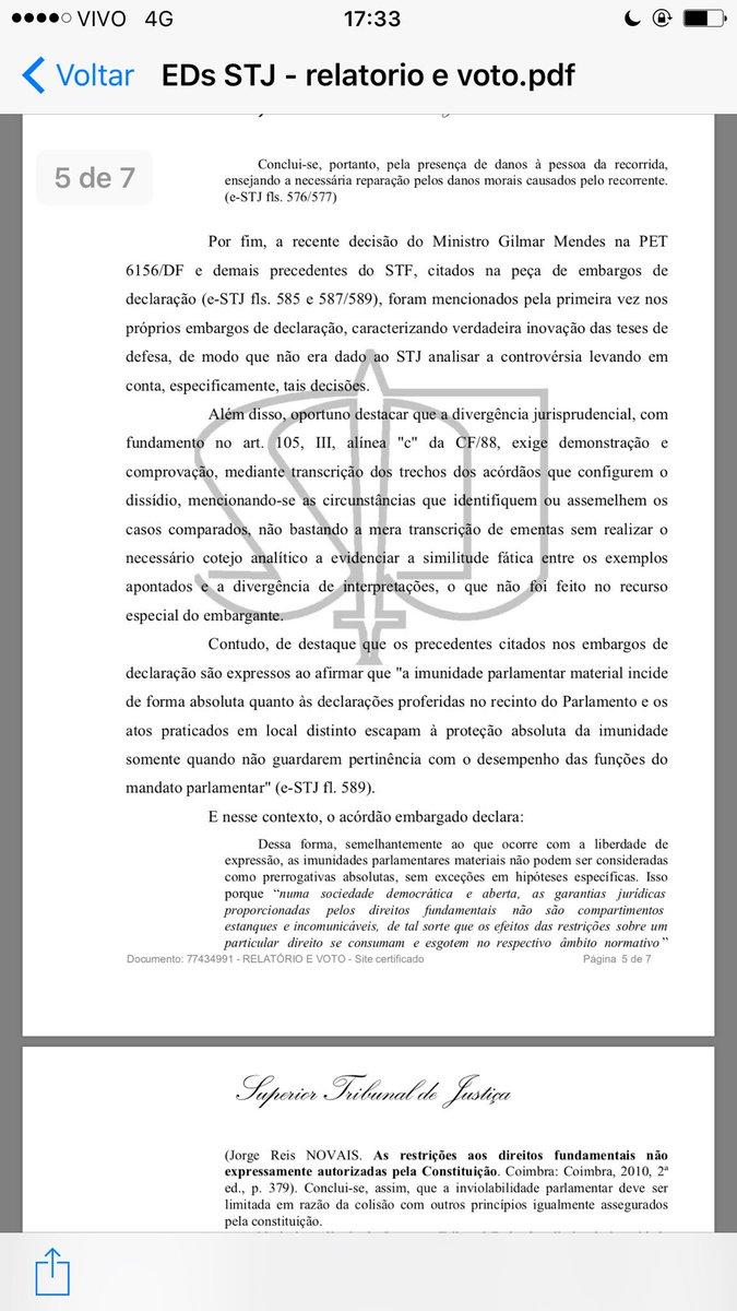 Comunico q STJ rejeitou recurso do Deputado condenado por danos morais, em processo q mulheres brasileiras venceram contra ele. Partes aqui.