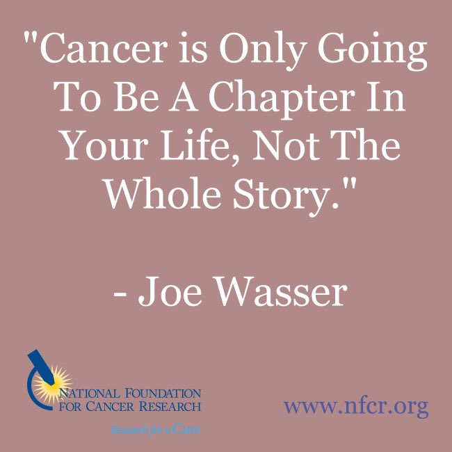 CANCER QUOTE, Please Share: #Cancer is Only Going to Be a Chapter in Your Life, Not the Whole Story. #inspiration #quote #quotes #endcancer #inspirationalquote #cancerresearch #hope #BreastCancer #lungcancer<br>http://pic.twitter.com/YDPjqtejkG