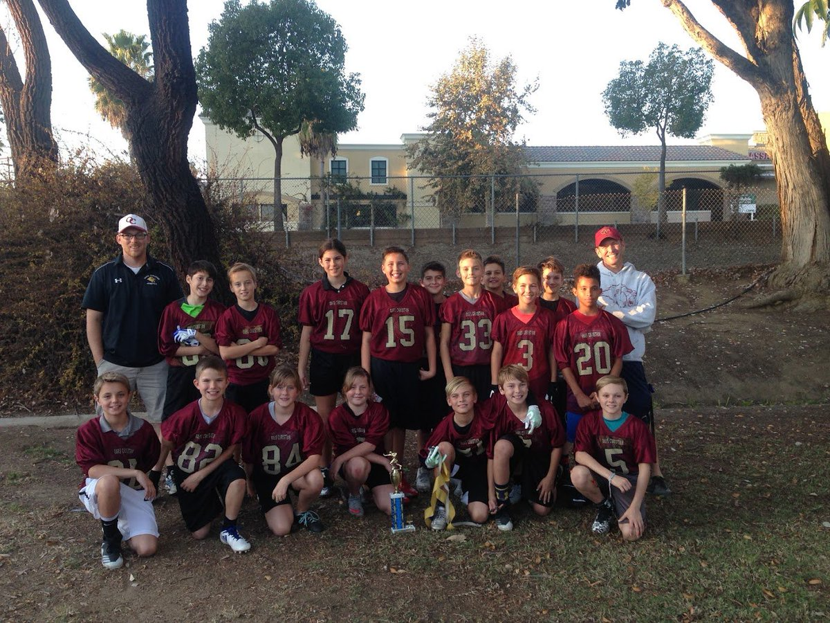Congratulations to our fifth and sixth grade flag football team for winning the Tri-Valley Christian Athletic League! #champions #golions <br>http://pic.twitter.com/NVxYBusxGq