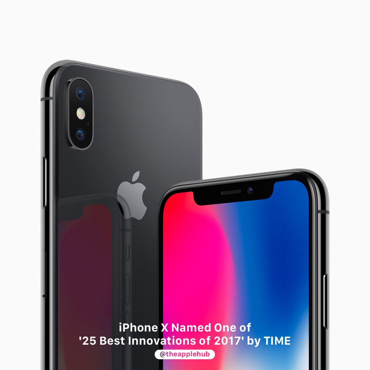 TIME magazine has named the iPhone X one of the '25 Best Inventions of 2017'.    #Apple #iPhone #iPhoneX #AppleHub<br>http://pic.twitter.com/vrbJfCX37A