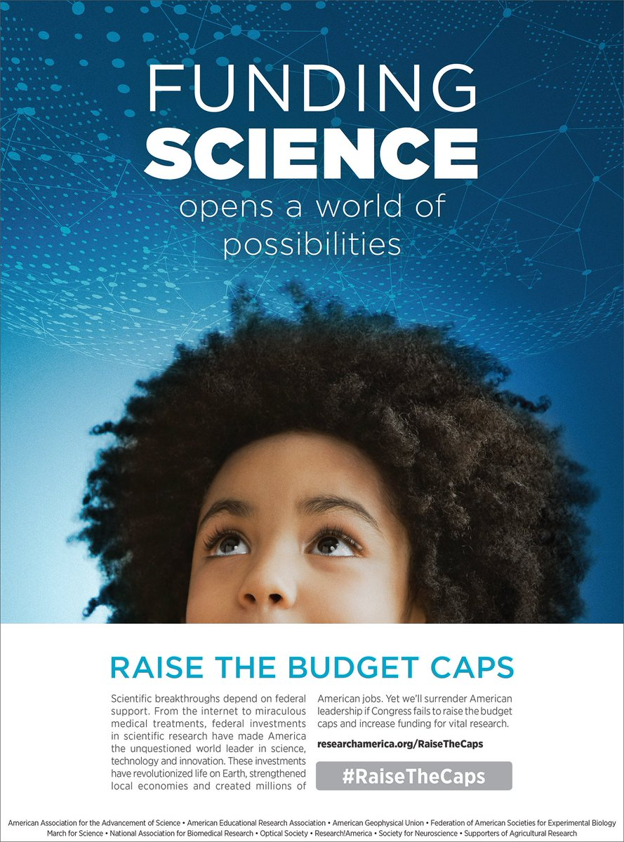 Funding science today opens a world of possibilities for future generations &amp; improves lives. #RaiseTheCaps -  http:// bit.ly/2iRKxld  &nbsp;  <br>http://pic.twitter.com/HsJLIz6kz1