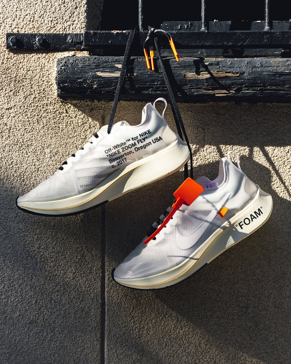 "9f1ec0414b2 ""TEN ICONS RECONSTRUCTED"" launches the Off White x Nike Zoom Fly . Raffles  for the Zapormax"