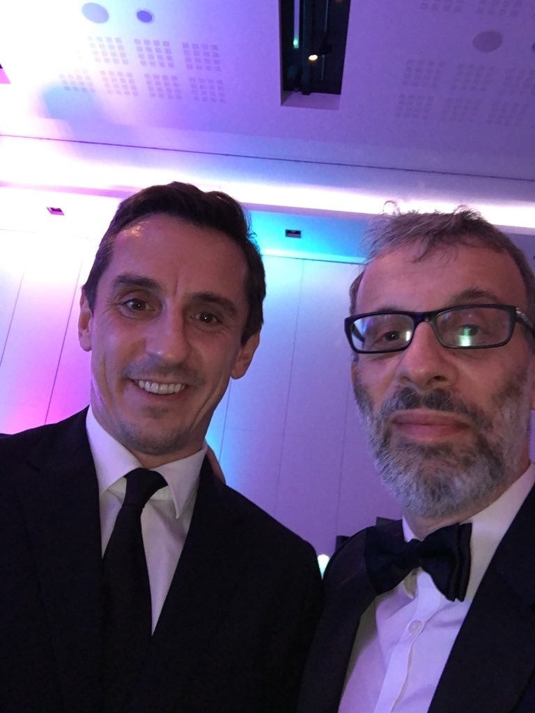Speaking tonight at the CBI North West dinner. Here's the young lad speaking before me, my support act, @GNev2. https://t.co/g6Njy9ssVs