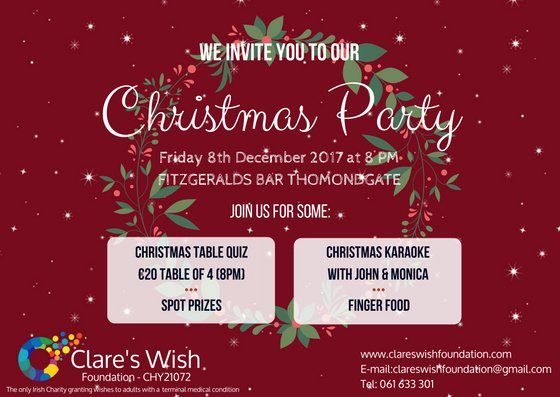 Clare S Wish Foundation On Twitter Invites Are Out For A