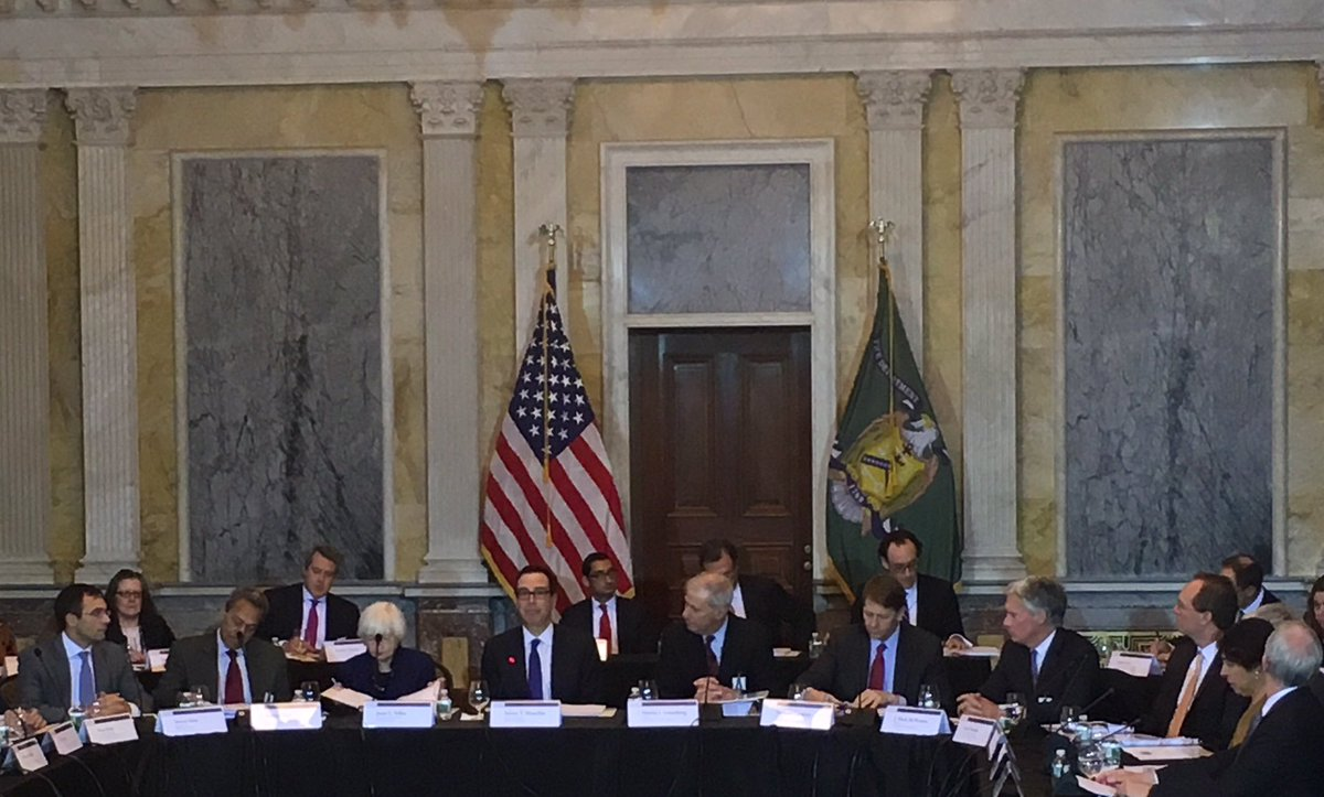 """Steven Mnuchin on Twitter: """"Productive meeting with the Financial Stability  Oversight Council today @USTreasury. #FSOC… """""""