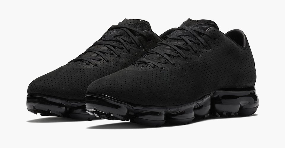 ad7d83a36765 nike s suede triple black vapormaxes are the most luxurious yet