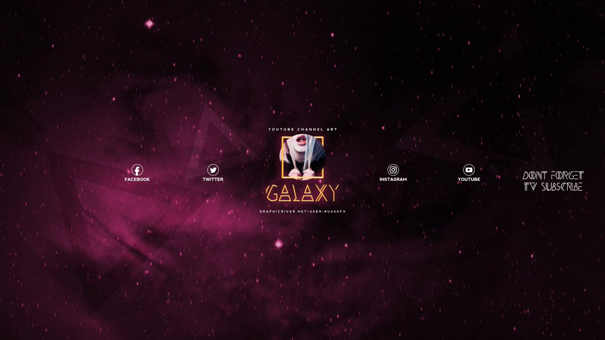 Russgfx On Twitter 3 Galaxy Youtube Channel Art Banners Psd
