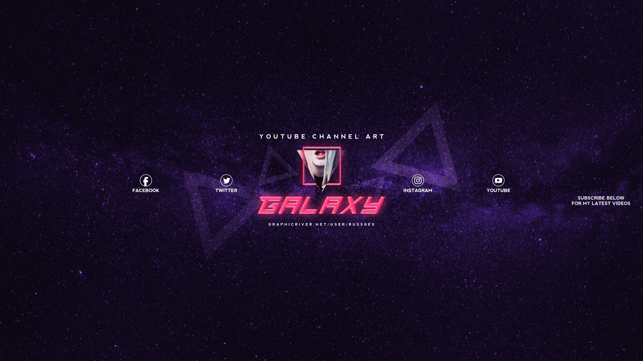 """RussGFX on Twitter: """"3 Galaxy Youtube Channel Art Banners ..."""