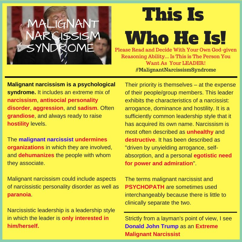 Re: What is narcissism and the traits of a narciss