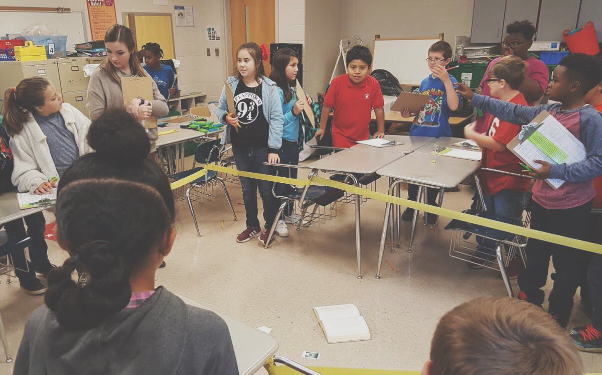 "We've got some future FBI agents at @BBCMES. These kiddos asked questions, gathered information, determined motives and alibis, and made inferences to discover ""who dun it"" in this murder mystery. #ActiveEngagement #LeadingTheWay <br>http://pic.twitter.com/r1ewwecCCR"