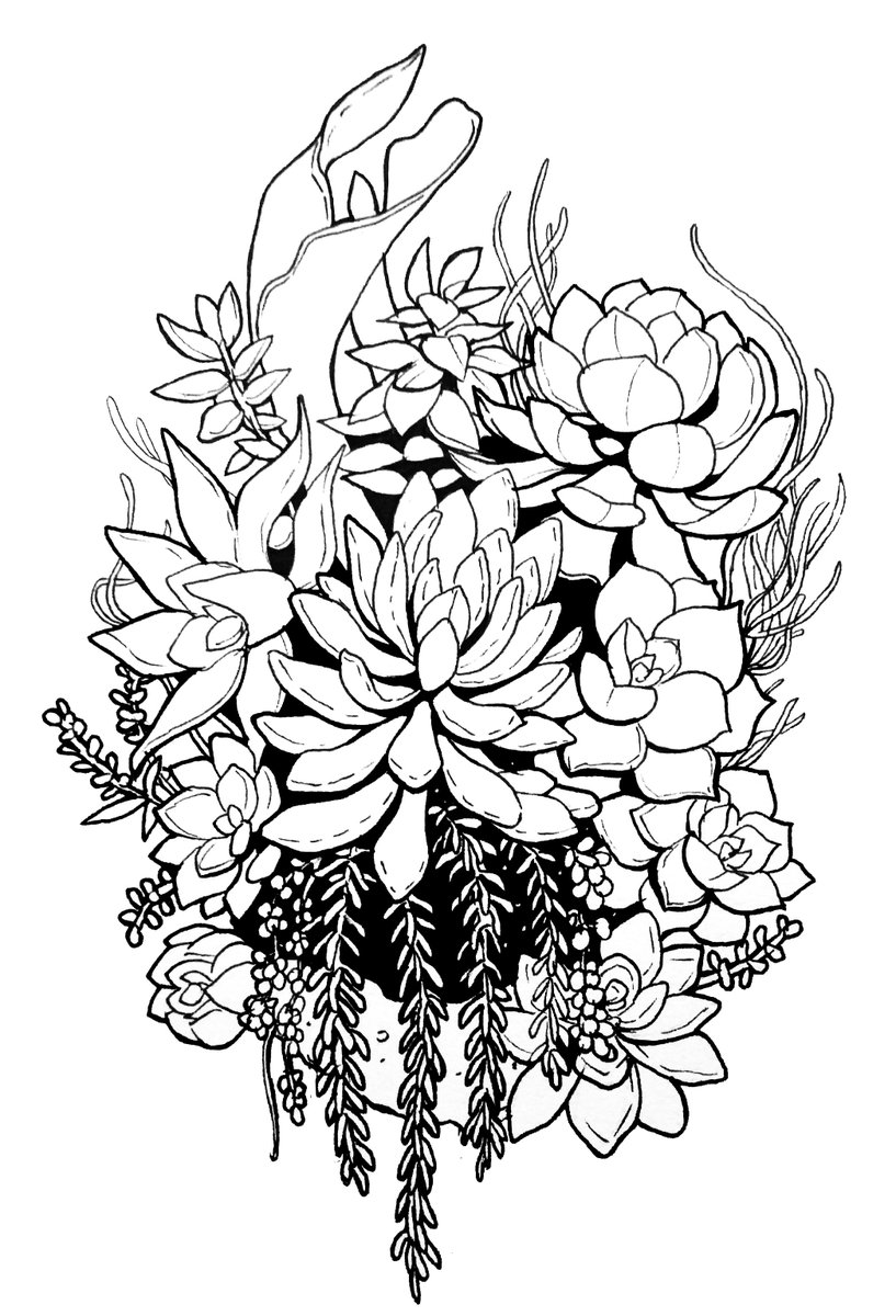 Vic On Twitter Possible Tattoo Design For Myself Striketherapy Succulents Ink Plants