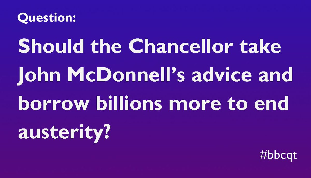 Our next question looks ahead to the budget which is on Wednesday #bbcqt
