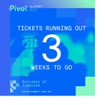 ONLY 3 WEEKS TO GO - TICKETS ARE RUNNING OUT #PivotSummit2017 is our biggest event yet and tickets are in demand. Book now to avoid missing out on your ticket. https://t.co/wjMLvUrR52  @LaunchVIC @StartupVic @RocketSeeder @ACS_Vic @AIIA_ICT @philipdalidakis @FoundX_ @SproutX_
