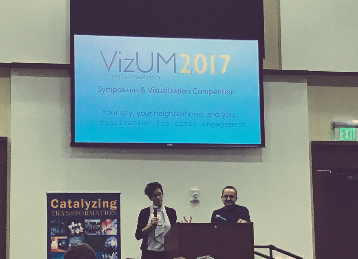 Amazing announcement at #VizUM - they&#39;ll be using @CityofMiami #OpenData for their 2018 Civic Visualization competition! <br>http://pic.twitter.com/NG8fcqNnk5
