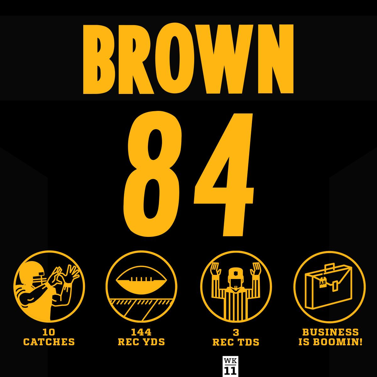.@AB84 was UNSTOPPABLE on #TNF! #HaveADay  #HereWeGo #TENvsPIT https://t.co/U1Bp3viPCH