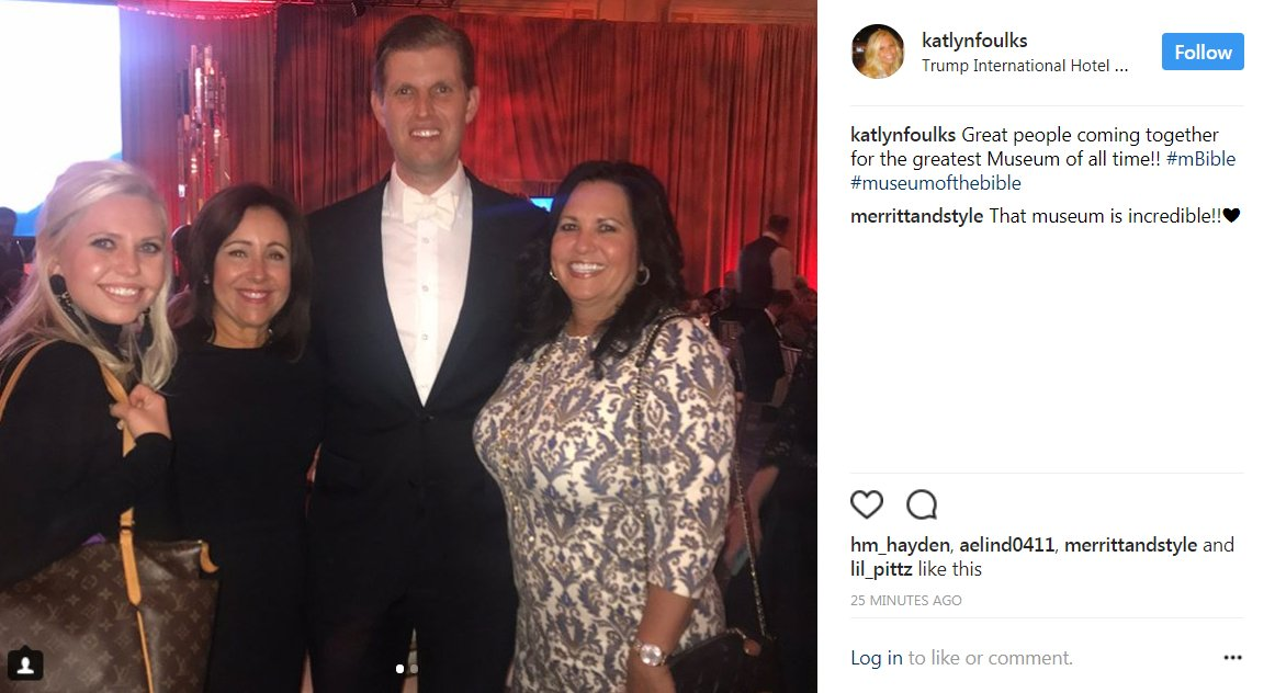 .@EricTrump, posing for pix at the @MuseumOfBible gala tonight at -- where else? -- @TrumpDC. https://t.co/tstdGB7Lmq