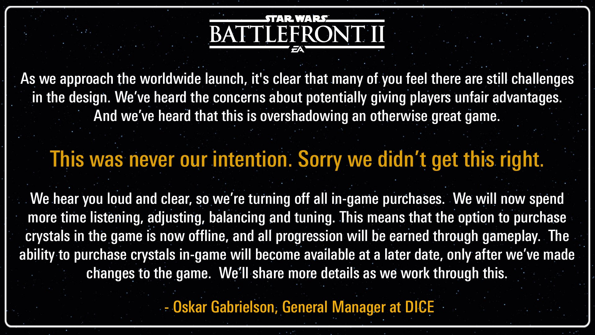 No more microtransactions from EA? Spoiler: ITS A TRAP
