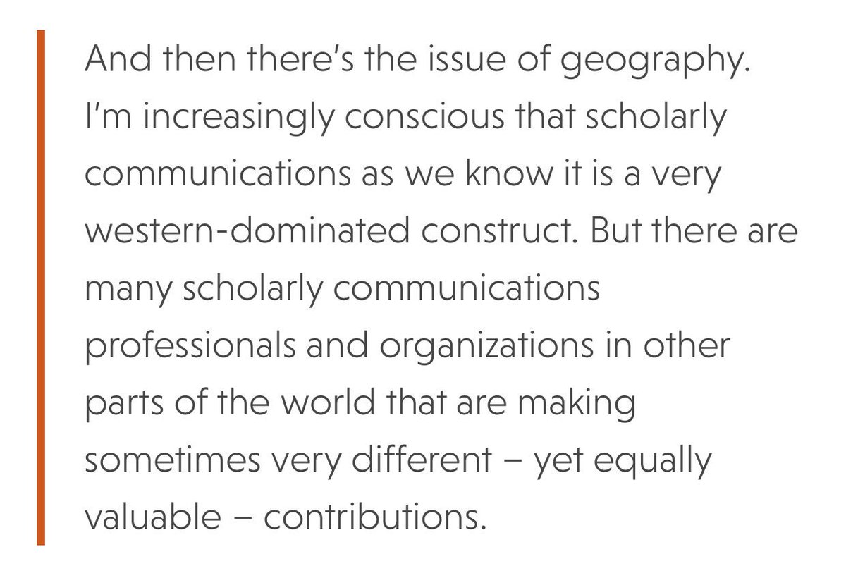 .@scholarlykitchn asks how to increase diversity in scholarly communications, with Alice Meadows emphasizing that #ScholComm have been historically western-dominated, thus missing critical perspectives from around the world.    https:// scholarlykitchen.sspnet.org/2017/11/16/div ersity-scholarly-communications/?utm_source=feedburner&amp;utm_medium=feed&amp;utm_campaign=Feed%3A+ScholarlyKitchen+%28The+Scholarly+Kitchen%29 &nbsp; … <br>http://pic.twitter.com/mIYBmIZGq3